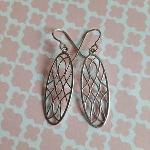 Set of 4 silver artisan made earrings